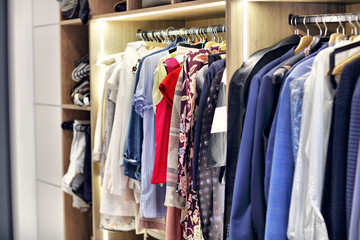 Moder walk-in closet at home
