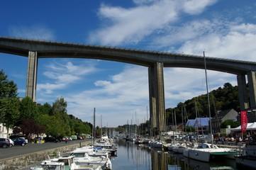 Le pont et le port du légué à Saint-Brieuc