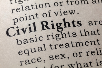Wall Mural - definition of Civil Rights