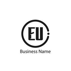 Initial Letter EU Logo Template Design