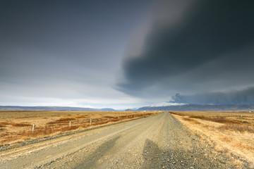 Natural disaster./ Volcano eruption of Eyjafjallajokull in Iceland
