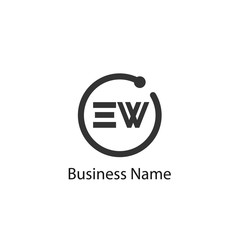 Initial Letter EW Logo Template Design