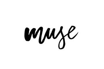 slogan Muse phrase graphic vector Print Fashion lettering calligraphy