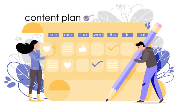 Content plan vector illustration