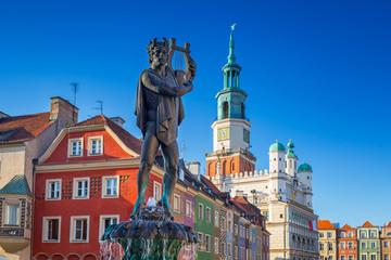 Keuken foto achterwand Europese Plekken Architecture of the Main Square in Poznan, Poland.