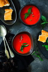 Roasted pepper and tomato soup vegan