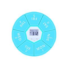 Weekly Pill Box Case Timer Alarm Clock Reminder Medicine Storage Dispenser