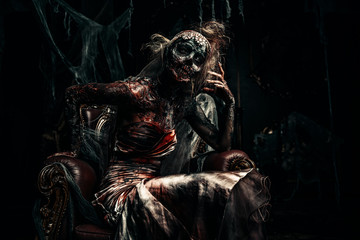 throne in darkness