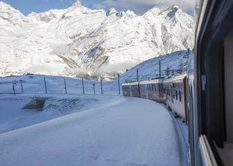 gornergrat zermat train in winter