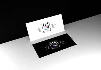 DL Flyer Mockup on Black and White Background