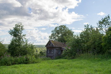 Old russian wooden country house