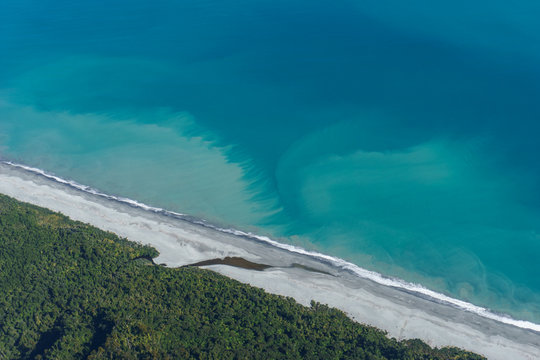 Scenic Fight To Franz Josef Glacier - Tasman Sea Coast In New Zealand West Coast