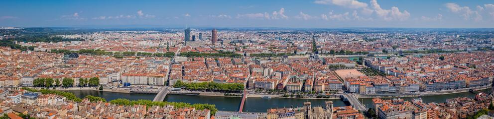 Panorama de Lyon vu de Fourvière