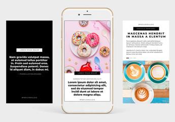 Basis Instagram-kompatible Geschichten-Set