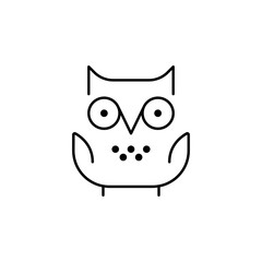 owl icon. Element of school icon for mobile concept and web apps. Thin line owl icon can be used for web and mobile