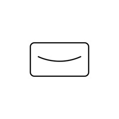 email icon. Element of school icon for mobile concept and web apps. Thin line email icon can be used for web and mobile