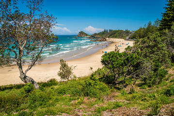 Flynns beach in Port Macquarie in the summer, Australia