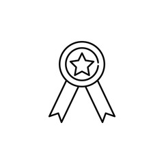 medal icon. Element of seo and online marketing icon for mobile concept and web apps. Thin line medal icon can be used for web and mobile