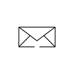 email icon. Element of seo and online marketing icon for mobile concept and web apps. Thin line email icon can be used for web and mobile