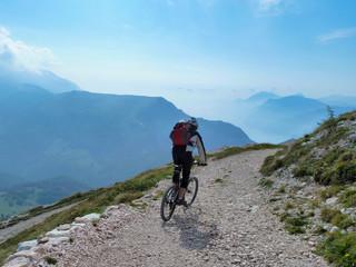 Mountain biking in the alps