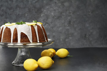 Whole Lemon Bundt Cake with Fresh Lemons