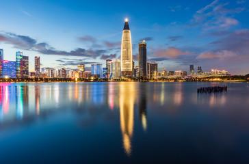Night view of Shenzhen Nanshan District Talent Park