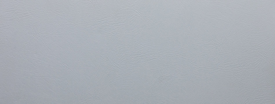 Smooth light gray leather texture  banner background