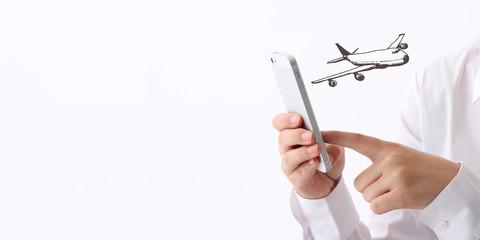 飛行機、予約