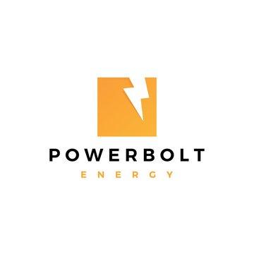 lightning bolt power logo vector icon symbol sign