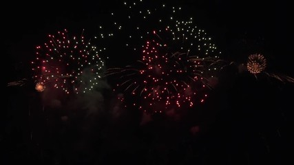 013 beautiful colorful fireworks display for celebration on black background new year holiday concept stock footage
