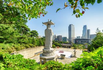 Cadres-photo bureau Seoul Wonderful view of Seoul skyline from Bongeunsa Temple