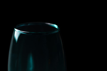 A Low-Key shot of a Turquoise Wine Glass