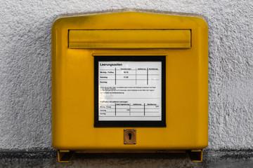 Gelber Briefkasten