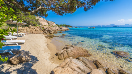 Wall Mural - Spiaggia Capriccioli, beach of Emerald coast, east Sardinia island, Italy