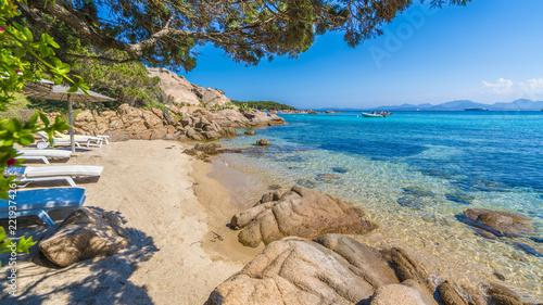 Wall mural Spiaggia Capriccioli, beach of Emerald coast, east Sardinia island, Italy