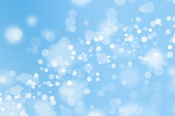 blue bokeh beautiful blurred bright light on abstract background. cool wallpaper. winter concept. element for decoration or design advertising. soft glitter backdrop. defocused