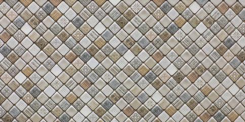 Foto op Canvas Geometrisch geometric abstract mosaic pattern, tile for kitchen