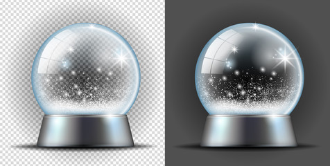 Realistic transarent snow ball