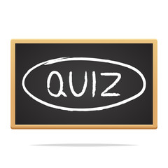 Word QUIZ on chalkboard vector isolated