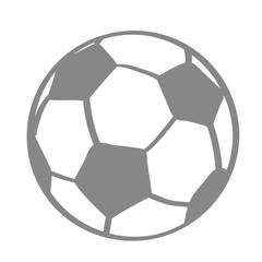 Handgezeichneter Fußball in grau