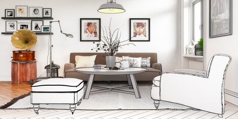 Modern Retro Furnishing (panoramic)