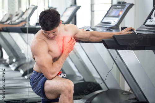 Asian Man Heart Attack After Running Workout On Treadmill In Gym