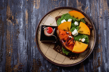Home made vegan sandwich