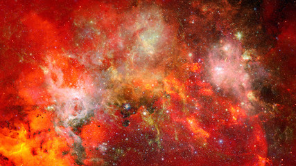 Open space - nebula and galaxy. Elements of this image furnished by NASA.