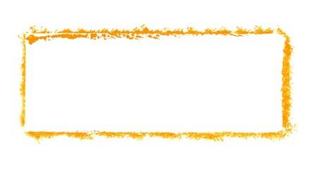 Leerer Graffiti Rahmen orange
