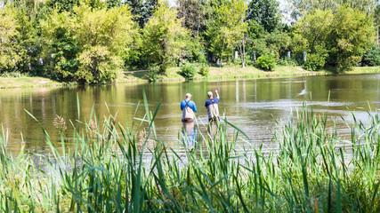 Zhabenka river near Large Garden Pond in Moscow