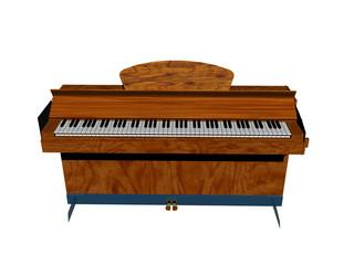 Hölzernes Klavier