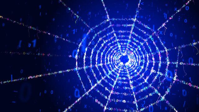 Cyan Web Portal in Blue Cyber Area