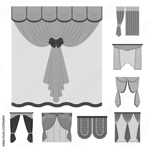 different kinds of curtains wonderful different kinds of curtains monochrome icons in set collection for design curtains and lambrequins vector