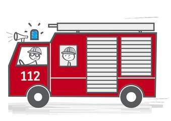 Feuerwehrauto - Feuerwehr im Einsatz